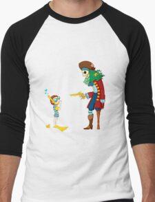 Goggle Boy vs Pirate King Men's Baseball ¾ T-Shirt