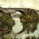 Old Bridge, Stirling, Scotland in the 19th century by Dennis Melling