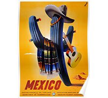 Mexico Vintage Travel Poster Restored Poster