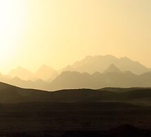 Mountains at Sunset, Hurghada, Egypt by LisaRoberts