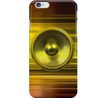 Music speakers with gold light streaks iPhone Case/Skin