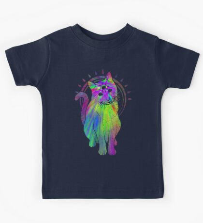 Psychic Psychedelic Cat Kids Clothes