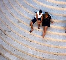 Croatian lovers on church steps, Old Town, Dubrovnik by MikeyLee