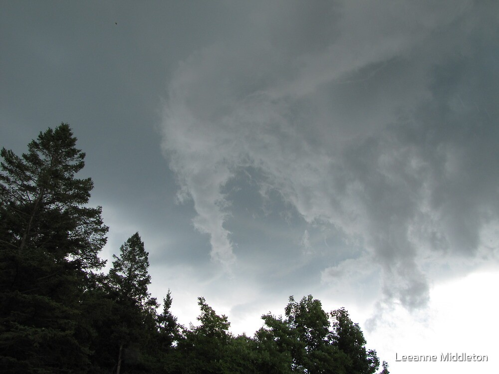 funnel cloud over bluff by Leeanne Middleton