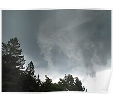 funnel cloud over bluff Poster