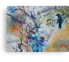 Notes of a Bird  Canvas Print