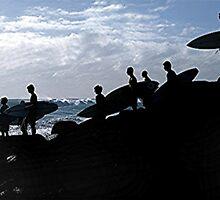 SURFERS LINEUP by Scott  d'Almeida