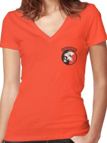Metal Gear Solid - MSF (Militaires Sans Frontières)over Heart Women's Fitted V-Neck T-Shirt
