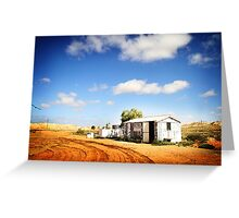 Apona Camping Ground, Andamooka, in colour Greeting Card