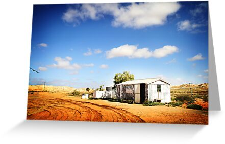 Apona Camping Ground, Andamooka, in colour by DanielleQ