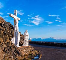 Christ On The Cross - Slea Head Road - Ireland by Mark Tisdale