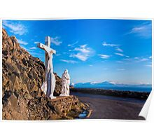 Christ On The Cross - Slea Head Road - Ireland Poster