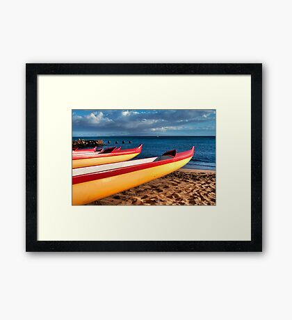Hawaiian Conoes Framed Print