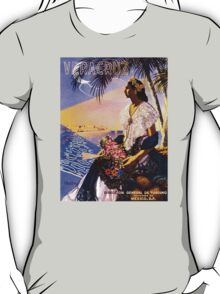 Veracruz Mexico Vintage Travel Poster Restored T-Shirt