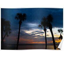 Sunset on the Indian River Merritt Island Florida Poster