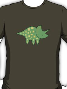 Triceratops- Green/Yellow T-Shirt