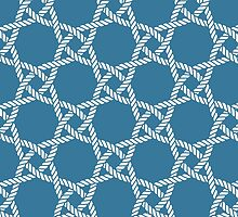 Nautical rope knot pattern by Marta Jonina