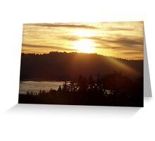 Sunrise over the Columbia River #15 Greeting Card