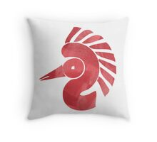 Symbolic bird Throw Pillow