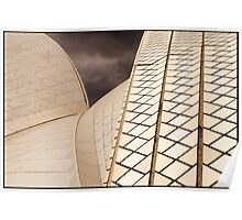 AB013 Sydney Opera House ceramic roof tiles Poster