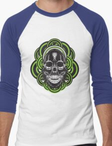 Sarcastic skull Men's Baseball ¾ T-Shirt
