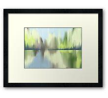 Lime Ice Framed Print