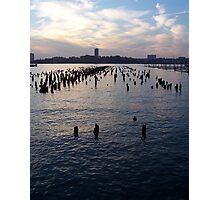 Hudson River at Dusk Photographic Print