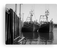 Fishing Boats in Alma Canvas Print