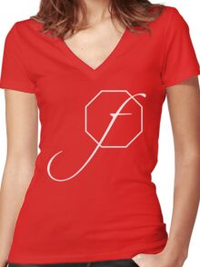 fstop Women's Fitted V-Neck T-Shirt