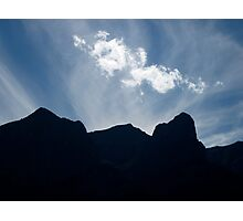 Mountain Silhoutte Photographic Print