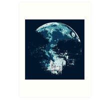 Ghost Direwolf Art Print