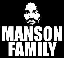 Charles Manson - Manson Family - black / white by Charles Manson