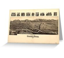 Perspective Map of Ogden Utah (1890) Greeting Card