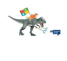 Windows 10 Ninja Cat on T-Rex by Asdrubal Pocinho
