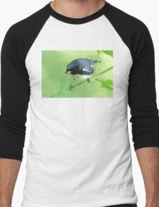 Black-Throated Blue Warbler Men's Baseball ¾ T-Shirt