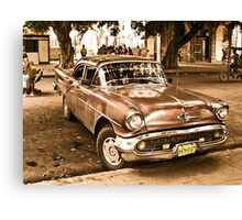 Old Taxi Canvas Print