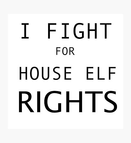 HOUSE ELF RIGHTS Photographic Print