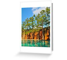 Slant Tree Grove Greeting Card