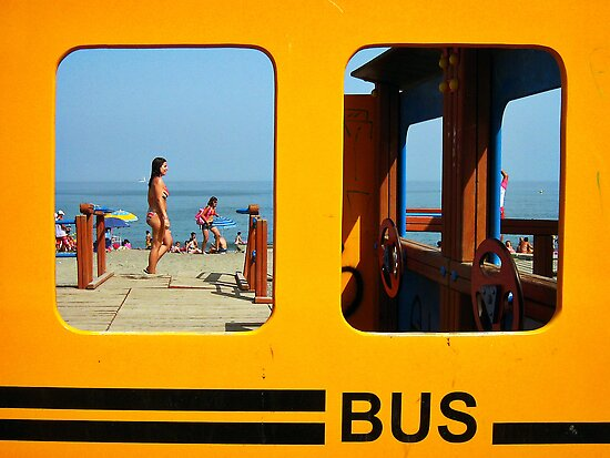 The Beach Bus by Maria  Gonzalez