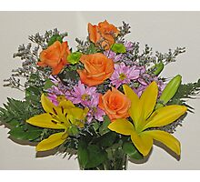 Beautiful Bouquet of Blooms Photographic Print
