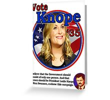 Vote Knope for President Greeting Card