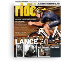 RIDE Cycling Review Issue 43 - Lance Armstrong Canvas Print