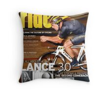 RIDE Cycling Review Issue 43 - Lance Armstrong Throw Pillow