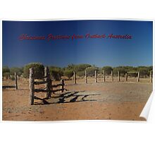 Christmas Greetings from Outback Australia  Poster