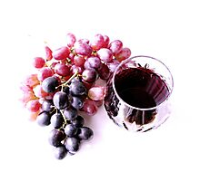 Red wine Photographic Print