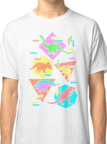 Nineties Dinosaurs Pattern Classic T-Shirt
