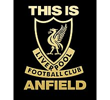 Liverpool FC Gold Photographic Print