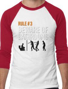 RULE #3 BEWARE OF BATHROOMS Men's Baseball ¾ T-Shirt