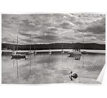 Brisbane Waters Black & White Poster