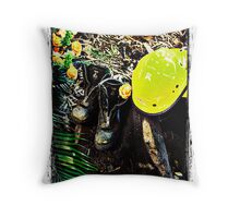 Black Saturday - Touched by Fire Throw Pillow